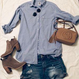 Talula Oxford Blue Shirt -M